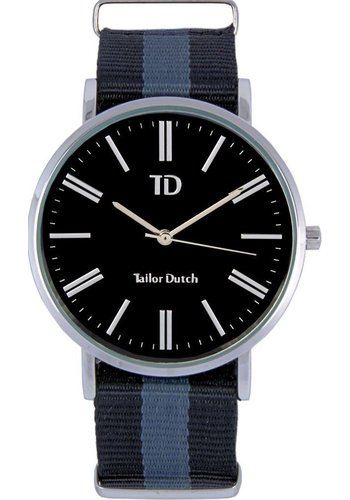 Tailor Dutch Tailor Dutch horloge zilver zwart