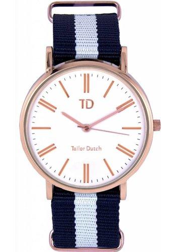Tailor Dutch Tailor Dutch horloge rose goud wit
