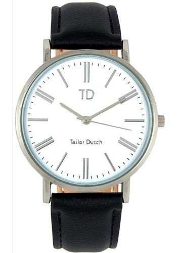 Tailor Dutch Tailor Dutch horloge witte kast - leer