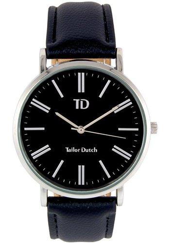 Tailor Dutch Tailor Dutch horloge zwarte kast - leer