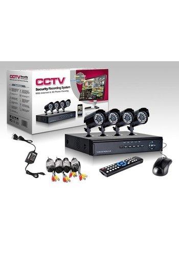 CCTV DVR Camerasysteem plug en play - 4 Camera's