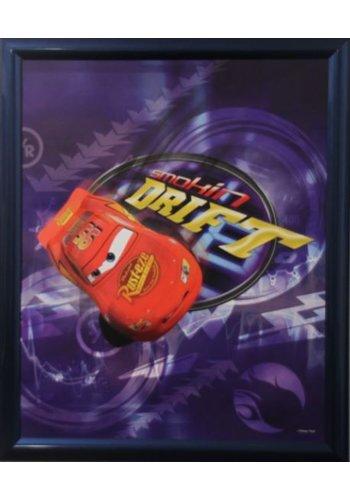 Disney Cars Poster met lijst 46x55,5 cm