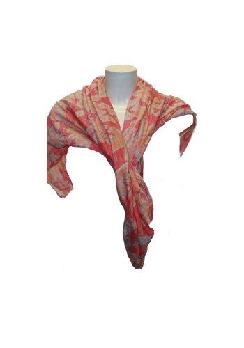 Romano Dames sjaal roze met print