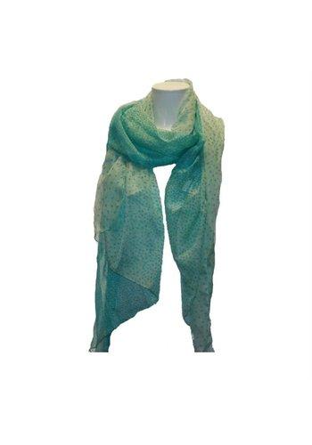 Romano Dames sjaal groen met tijgerprint stippen