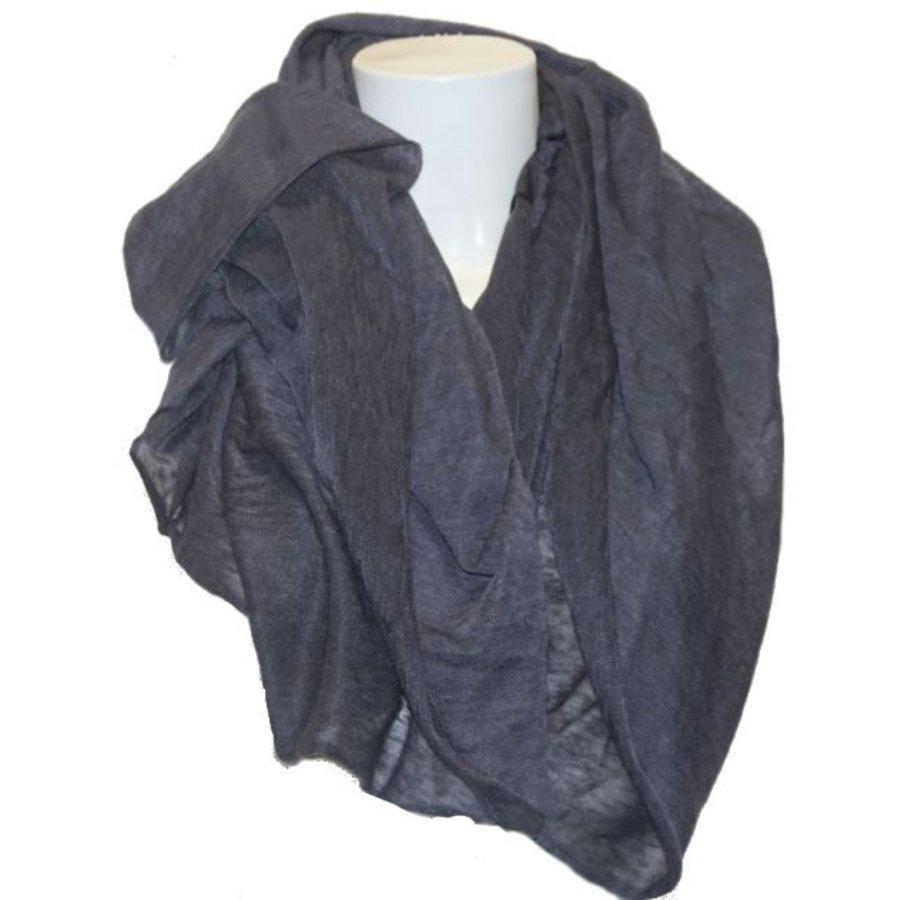Damen Schal grau-blau