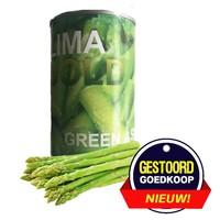 Groene asperges gesneden  411 gram: 6 blikken