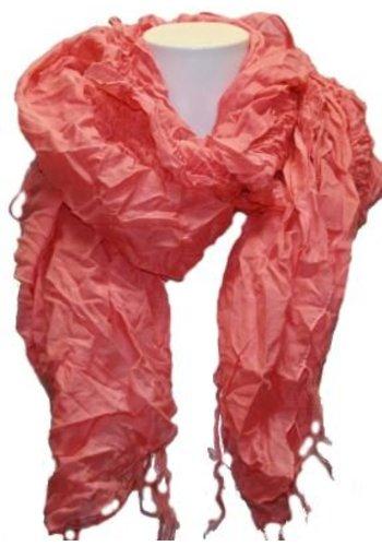 Romano Dames sjaal roze met franje