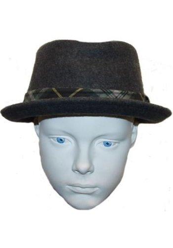 Grace hats Hut grau mit grün / gelb Streifen