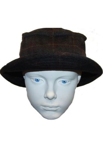 Grace hats Chapeau gris avec diamant violet / jaune
