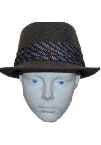 Grace hats Hut grau blau / weiß Streifen