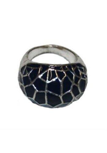 Clockhouse Brede ring blauwkleurig