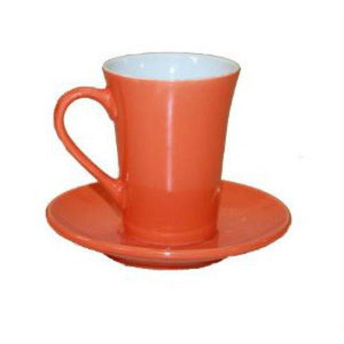Neckermann Kop en schotel - Oranje - 180 ml
