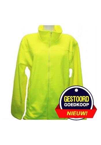 Lemon & Soda Fleece vest fluor geel