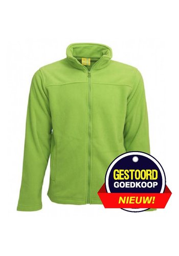 Lemon & Soda Fleece vest groen