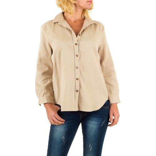 BY JULIE Dames blouse van By Julie - beige