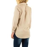 Dames blouse van By Julie - beige
