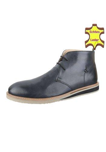 COOLWALK Heren Leren casual boot Van COOLWALK Grijs