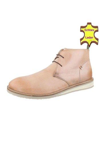 COOLWALK Heren Leren casual boot Van COOLWALK Tan