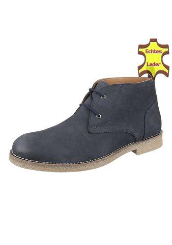 COOLWALK Chaussures pour hommes en cuir de COOLWALK -Bleu