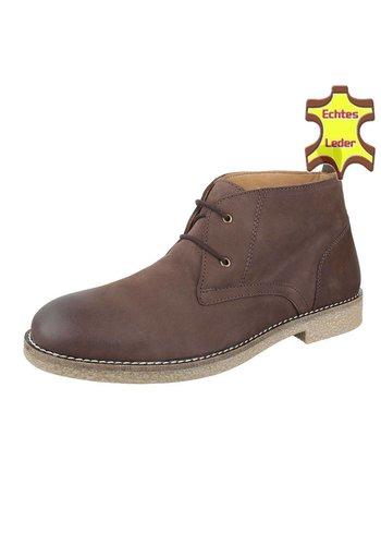 COOLWALK Heren Leren casual boot van COOLWALK Bruin