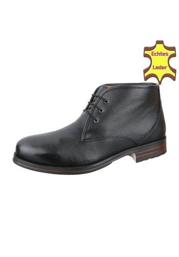 COOLWALK Heren Echte Leren casual boot van COOLWALK - Zwart