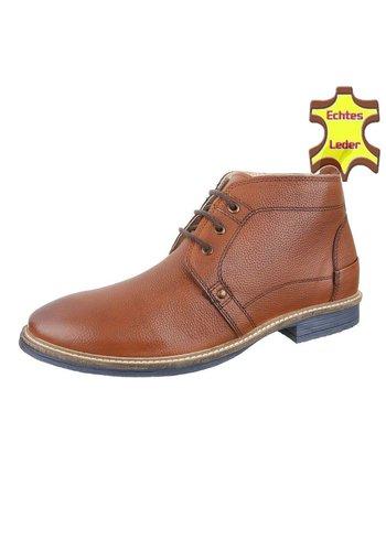 COOLWALK Heren Echte Leren casual boot van COOLWALK - Tan