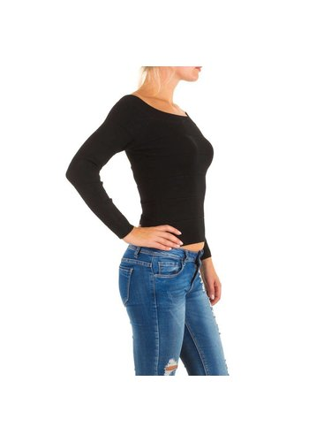 MOEWY Ladies Top by Moewy taille unique - Noir