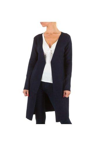 Markenlos Damen StrickJacke von Moewy Gr. one size - DK.blue