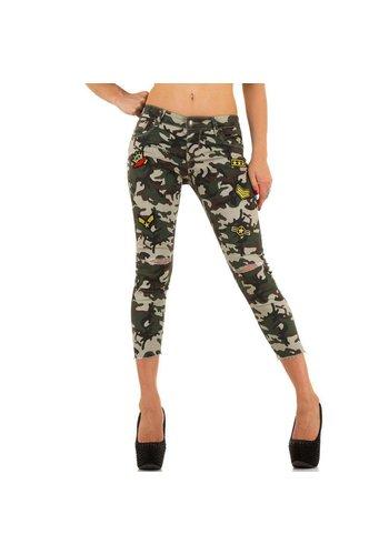 Markenlos Damen Jeans von Miss Rj - armygreen