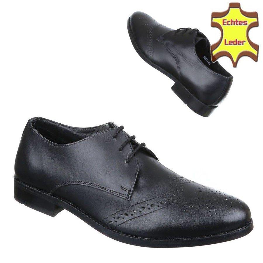 Herren Business Schuhe - Black Leather