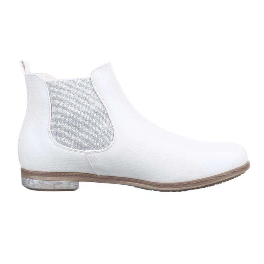 Damen+Stiefeletten+-+white