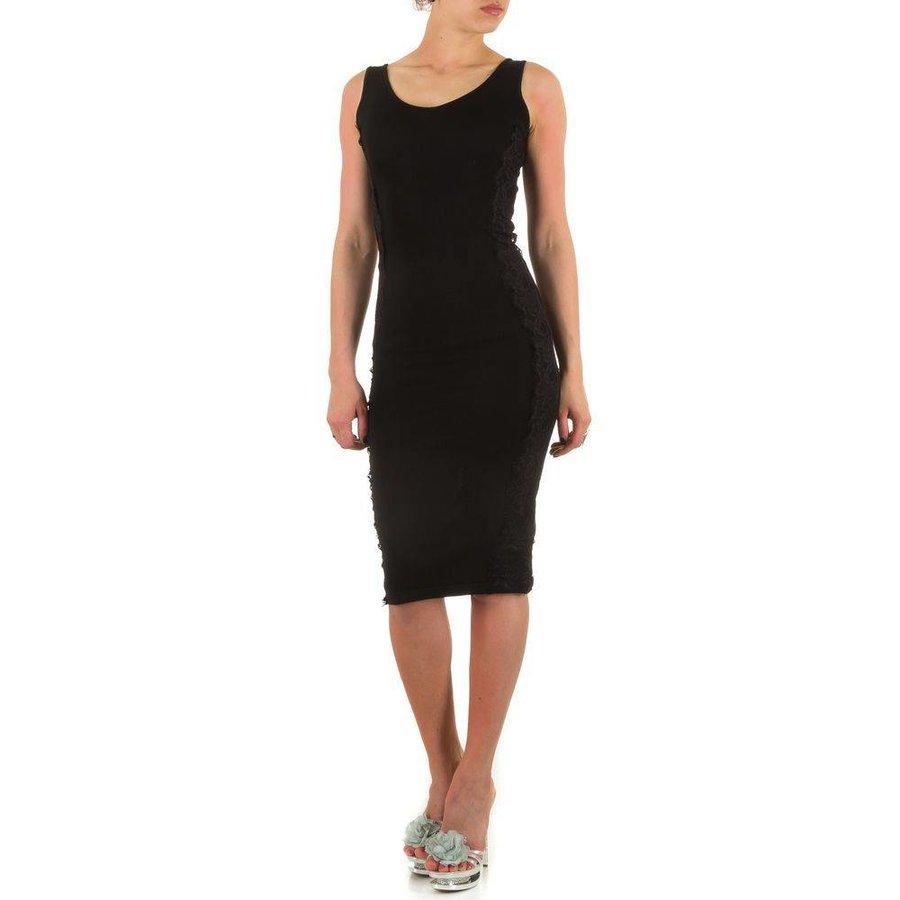 Damen kleiden eine Größe - schwarz