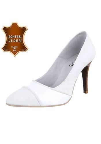 Neckermann Damen Pumps - weißes Leder