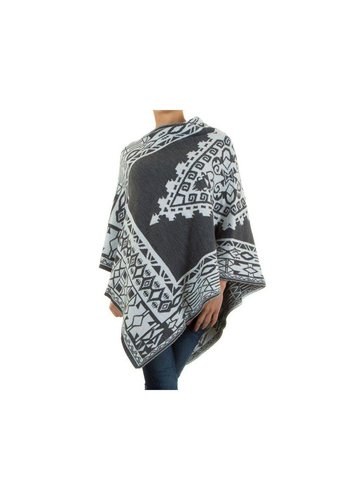 Neckermann Dames Poncho Gr. one size - grijs