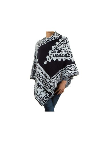 Neckermann Dames Poncho Gr. one size - donker blauw