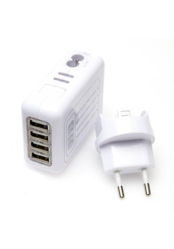 Neckermann Chargeur de voyage USB - 4 ports