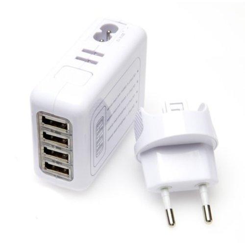 Neckermann USB Reisoplader  - 4 poorten