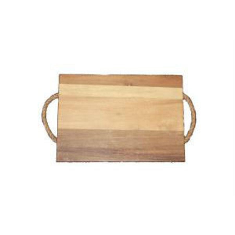 Neckermann Acacia houten snijplank met hengsel bruin