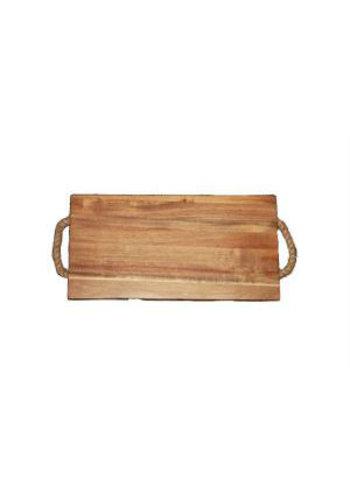 Neckermann Planche à découper en bois Acacia avec poignée 35x18,5 cm