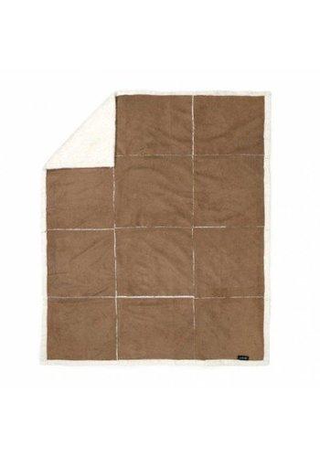Zest Couverture polaire - patchwork en suède - 125x150 cm