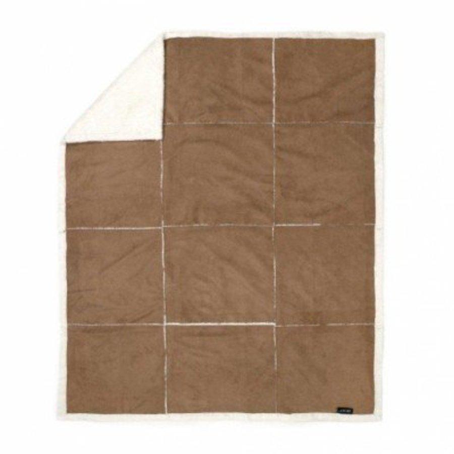 Fleeceplaid 125x150 suedelook patchwork
