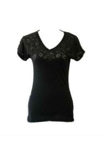 George T-shirt V-hals met bloemenmotief