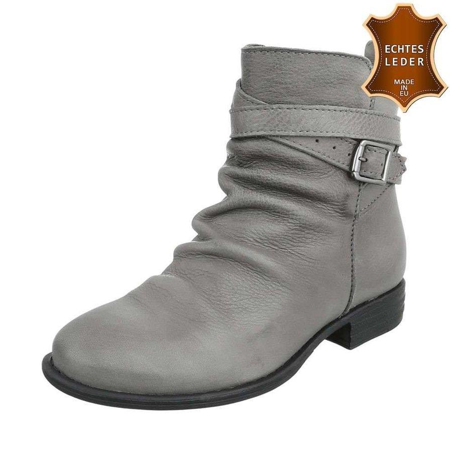 Damen Leder Stiefeletten - grey