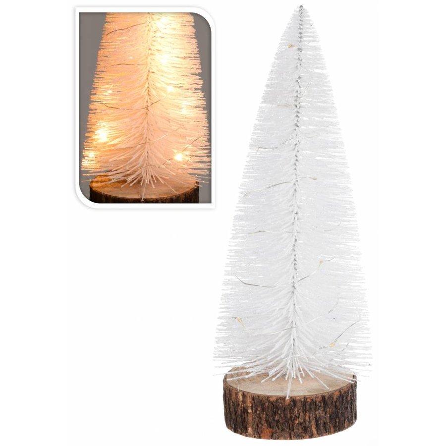 Kerstboom met verlichting assorti 28 cm