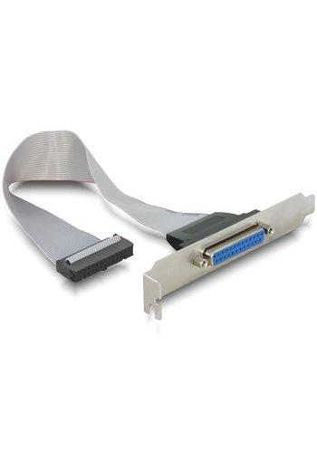 Cablexpert Parallelle LPT poort op bracket