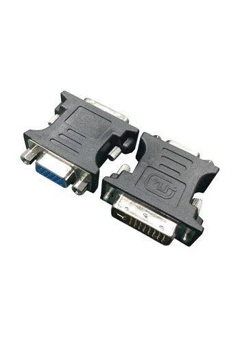 Cablexpert DVI-A 24-Pin männlich auf VGA 15-Pin HD weiblich Adapter