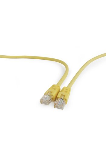Cablexpert CAT5e UTP Patch cord, yellow, 0.25 m