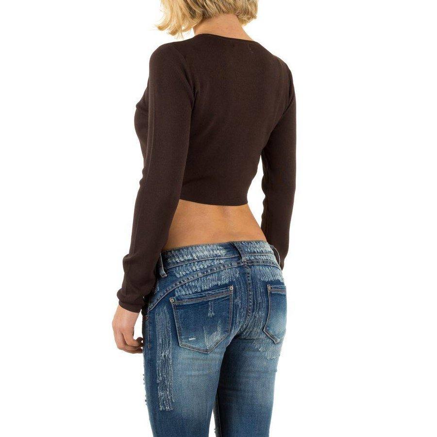 Damen Pullover Gr. one size - coffee