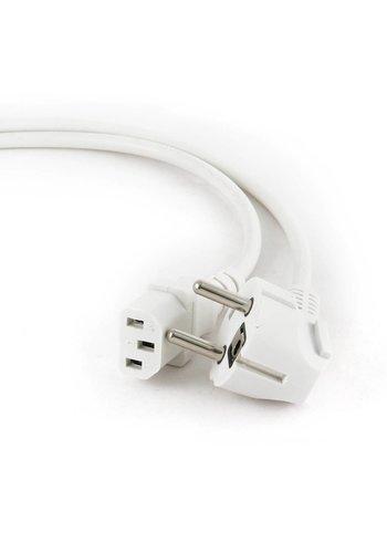 Cablexpert Netsnoer met randaarde (C13), 1,8 m, wit