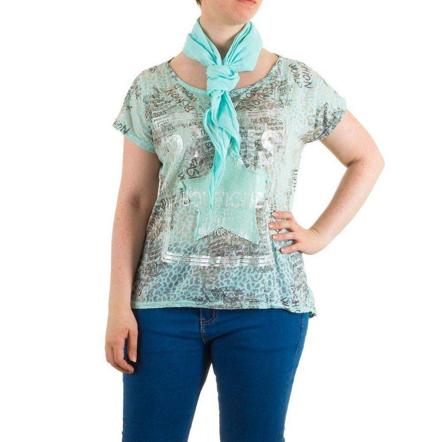 Damen Bluse Gr. one size - turkis